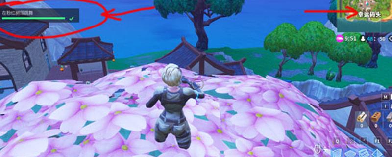 堡垒之夜粉红树顶在哪