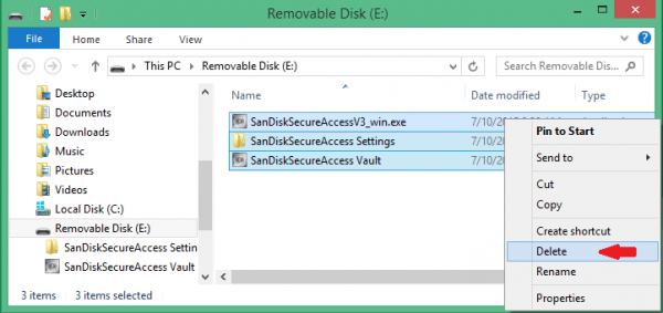 闪迪u盘加密软件(SanDisk SecureAccess)