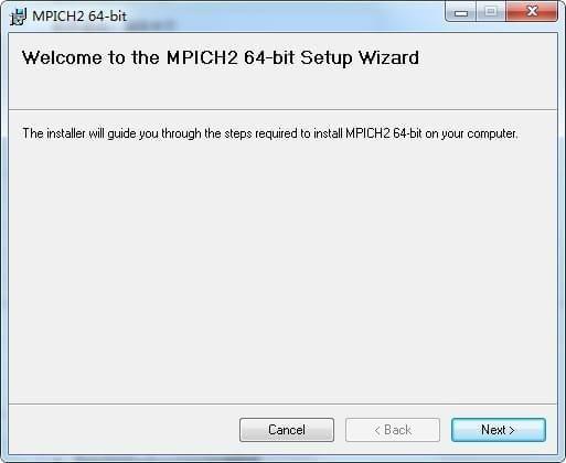 mpich2(MPI并行程序安装包)