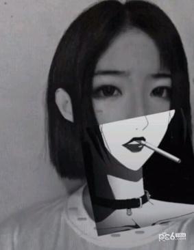 遮脸素材        制作抖音漫画图片半脸我们需要先下载一个picsart