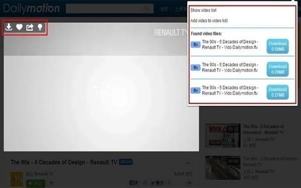 Video download helper插件