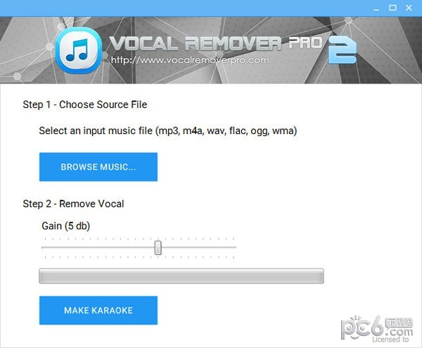 Vocal Remover Pro(消声魔术师) v2.0免费英文版