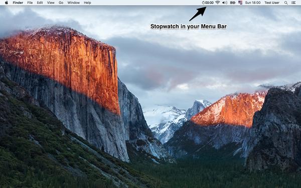 Menu Stopwatch Mac版