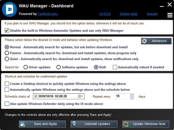 WAU Manager(更新管理工具)