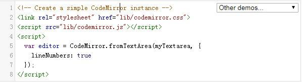 CodeMirror(在线代码编辑器)