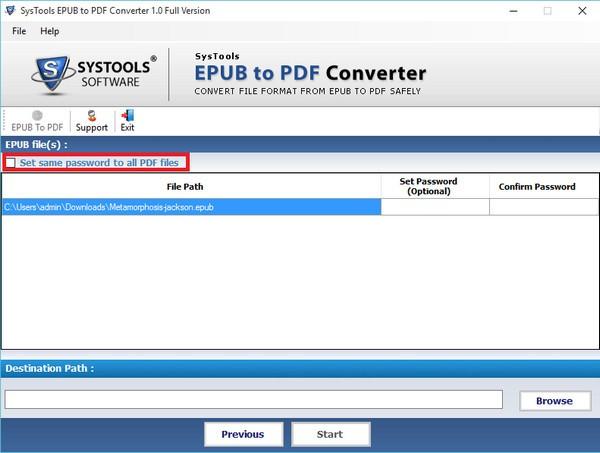 SysTools EPUB to PDF Converter截图