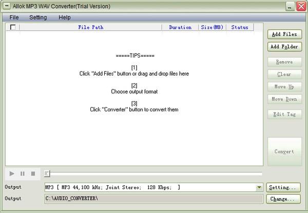 Allok MP3 WAV Converter(音频格式转换软件)