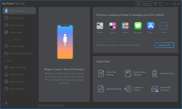 AnyTrans for iOS(IOS传输管理工具)
