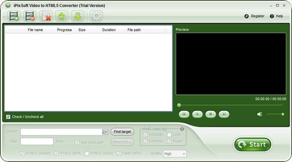 iPixSoft Video to HTML5 Converter(HTML5视频转换器)