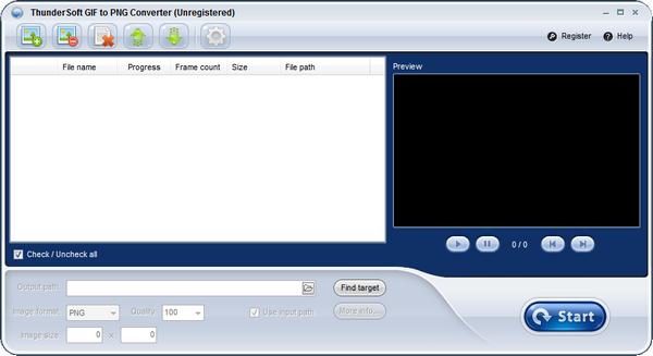 ThunderSoft GIF to PNG Converter(GIF转PNG软件)下载 v2.7.0官方版