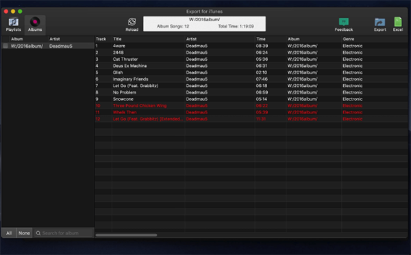 Export for iTunes for Mac-Export for iTunes Mac版下载 V2.1.12