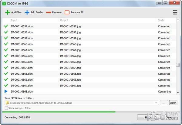 DICOM to JPEG(dicom转jpg软件)